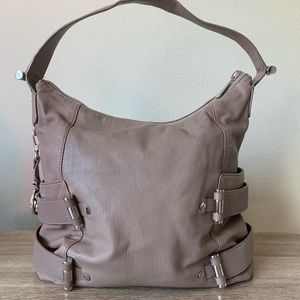 Michael Michael Kors Rare Leather TaupeHobo Bag